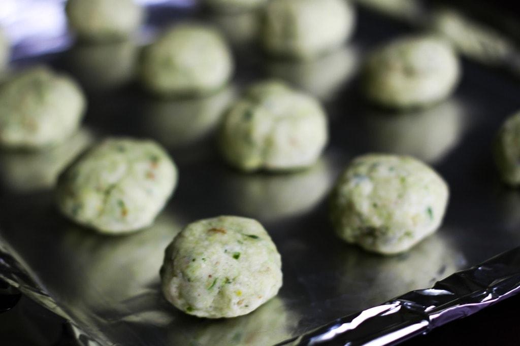 Basil Lemon Cookies before baking